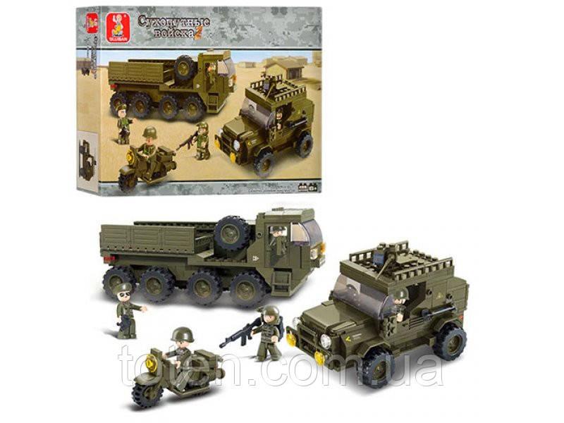 """Конструктор SLUBAN  """"Сухопутные войска"""" 455 дет, M38-B0307"""