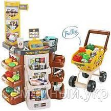 Детский большой супермаркет 79см*53см*34см* с тележкой LIMO TOY 668-77 79см высота, фото 2