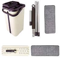 Швабра з відром і автоматичним віджимом - комплект для прибирання Тріумф Pro Flat Mop Self Wash