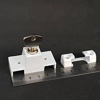 Детский замок блокиратор/антивор akpen защита от взлома усиленный (белый) накладной