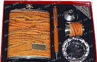 Мужской подарочный набор DJH-0724 Фляга+стопка+лейка+шариковая ручка+пепельница Интересный подарок мужчине