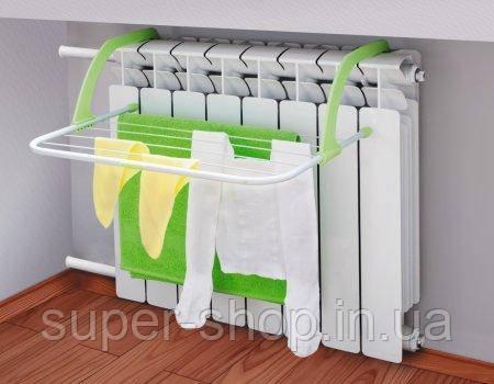 Підвісна вішалка для сушки одягу на батарею двері радіатор ванну перила 50х35 см