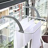 Підвісна вішалка для сушки одягу на батарею двері радіатор ванну перила 50х35 см, фото 2