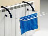 Підвісна вішалка для сушки одягу на батарею двері радіатор ванну перила 50х35 см, фото 8