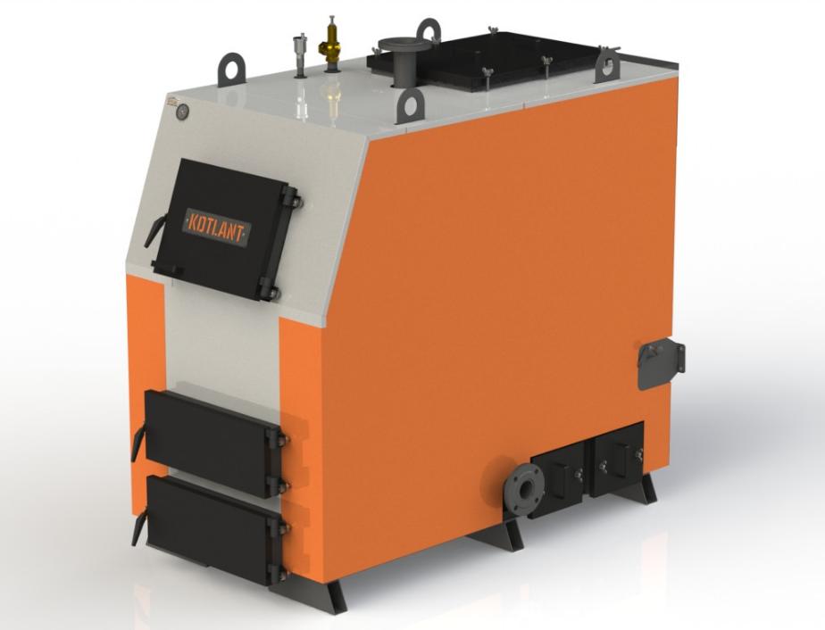 Твердотопливный котел длительного горения Kotlant КВ 125 кВт