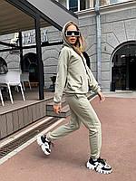 Спортивний костюм жіночий худі з капюшоном та штани на гумці