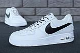 🔥 Кроссовки женские повседневные Nike Air Force White (найк эир форс белые), фото 2