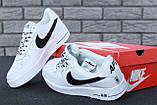 🔥 Кроссовки женские повседневные Nike Air Force White (найк эир форс белые), фото 7