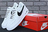 🔥 Кроссовки женские повседневные Nike Air Force White (найк эир форс белые), фото 8