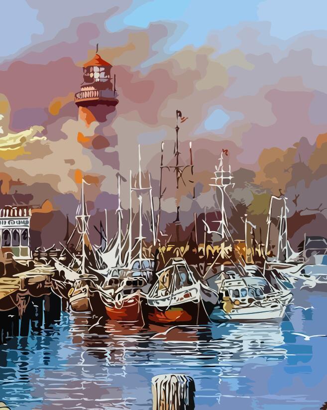 Картина по номерам AS0136 На пірсі, 40x50 см., ArtStory