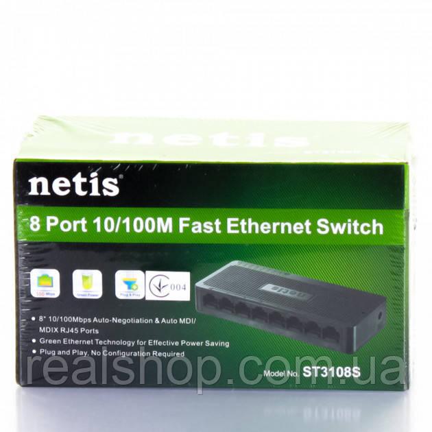 Коммутатор Netis ST3108S  8-портовый 10/100 Мбит/с