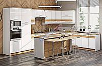 Кухня крашенный высокий глянец с фоторисунком