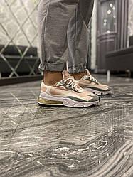 Женские кроссовки Nike Air Max 270 React White Pink (бело-розовые)