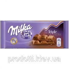 Шоколад Milka Triple (тройной шоколад), 100 г