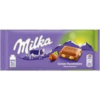 Шоколад Milka Whole Hazelnuts (с цельными орехами), 100 g