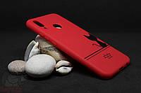 Силиконовый чехол с принтом для Huawei P20 Lite красный