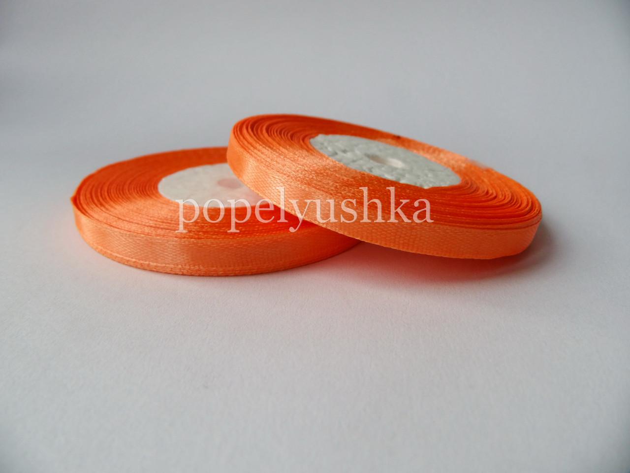 Лента атласная 0,5 см светло-оранжевая