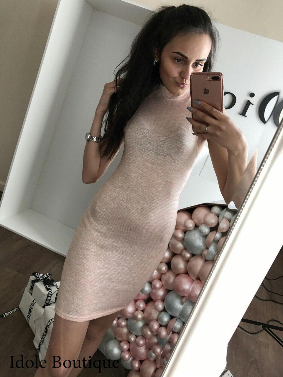 Платье с люрексовыми нитями. Размер One Size(XS-M).