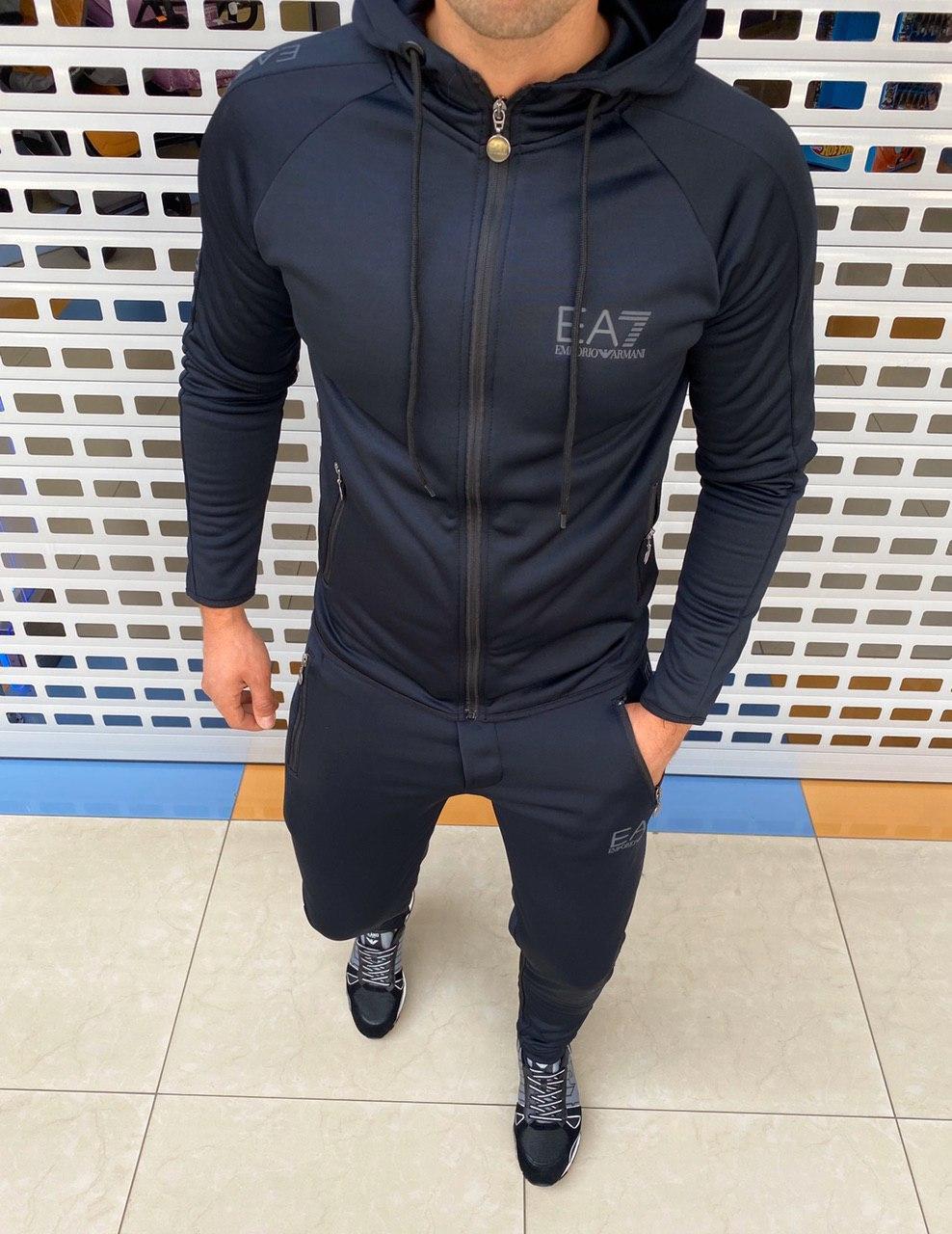 Мужской спортивный костюм Emporio Armani H0838 черный