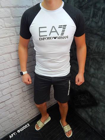Мужской комплект шорты футболка Armani    S, фото 2