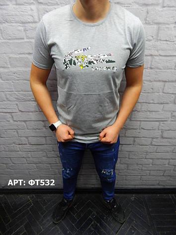 Мужская футболка Lacoste. Размеры: M, L, XL, 2XL, фото 2