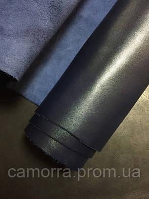 Кожа Бордо синий, фото 2