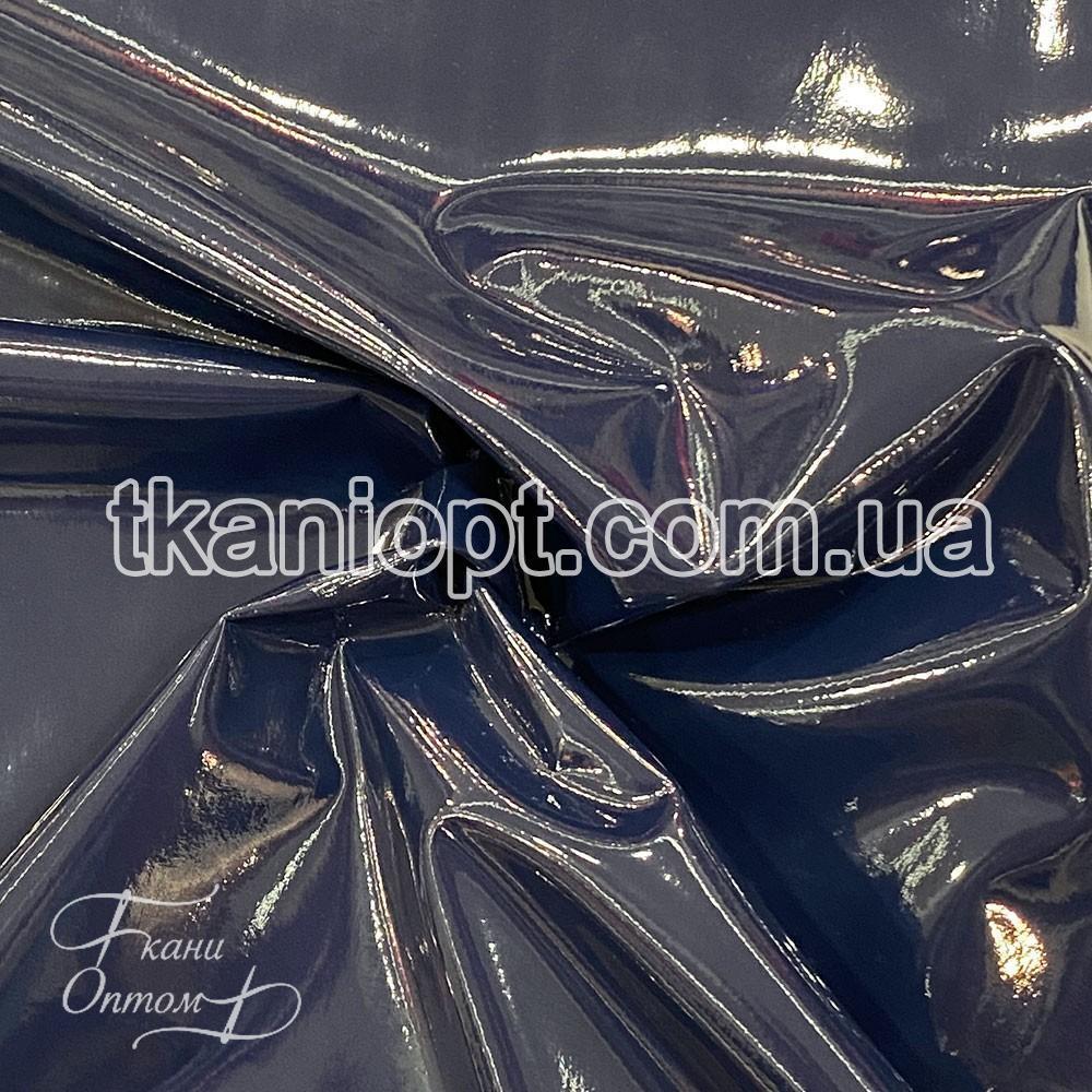 Ткань Плащевка лак на флисе (темно-синий)