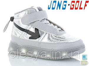 Кроссовки детские для девочек с подсветкой подошвы Jong Golf Размеры 27- 29