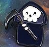 Хеллоувин скелет смерть в плаще с косой пин значок металл фильм  ужасы, фото 6