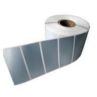 Этикетка металлизированная 65х25 мм полиэстер, матовое серебро (3000 шт)