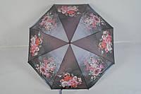 """Женский зонт полуавтомат с цветами от фирмы """"Feeling Rain"""" - 100-154"""