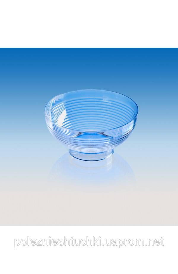 """Пиала-форма фуршетная """"Мини-миска"""" 67х67х32 мм., 60 мл. прозрачная, стеклоподобная"""