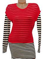Трикотажное платье-морячка с накидкой (в расцветках)
