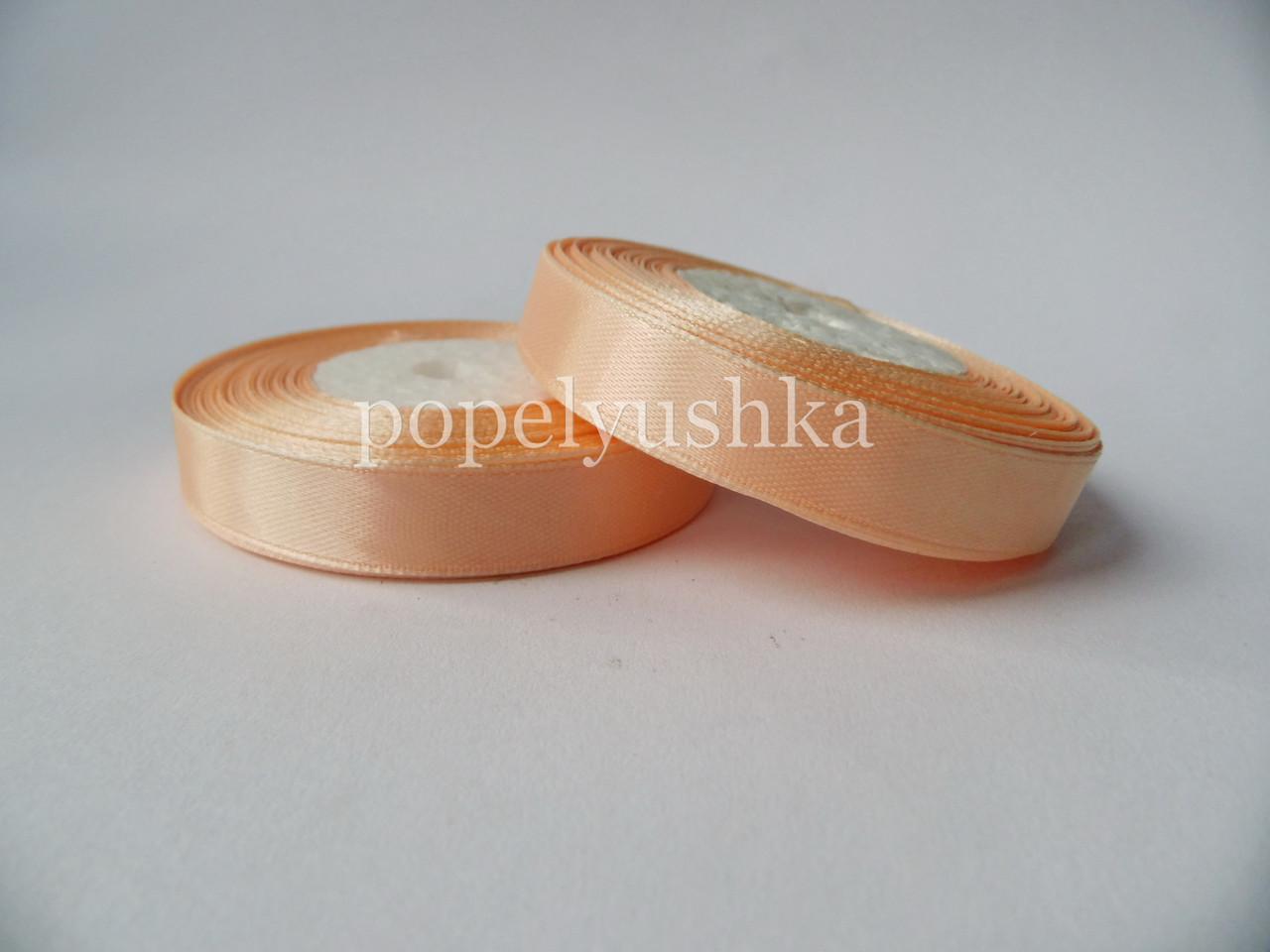 Стрічка атласна 1,2 см блідо-персикова