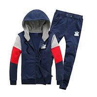 Спортивный костюм модный. Синий, белый, красный