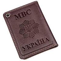 Компактная обложка на документы МВС Украины SHVIGEL 13979 Коричневая