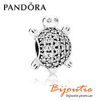 Шарм Pandora ЧЕРЕПАХА 791538CZ серебро 925 проба Пандора оригинал , фото 1