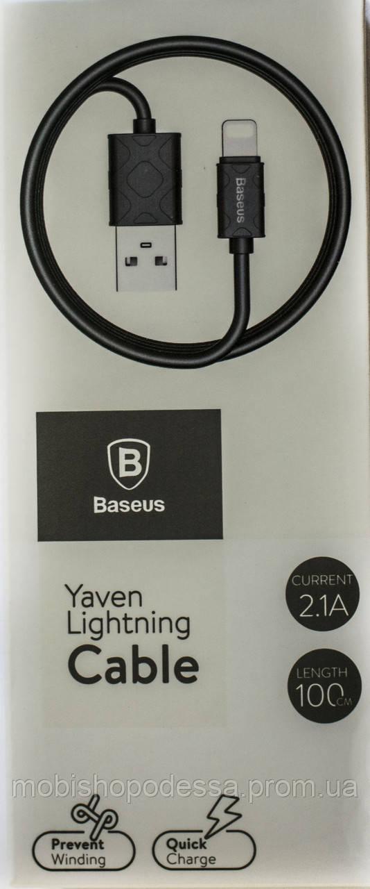 Baseus Yaven Lightning Cable For Apple 1M Black CALUN-01