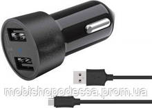 Car charger Budi 2 USB 4.8A with Type-C cable 1.2m M8J622T