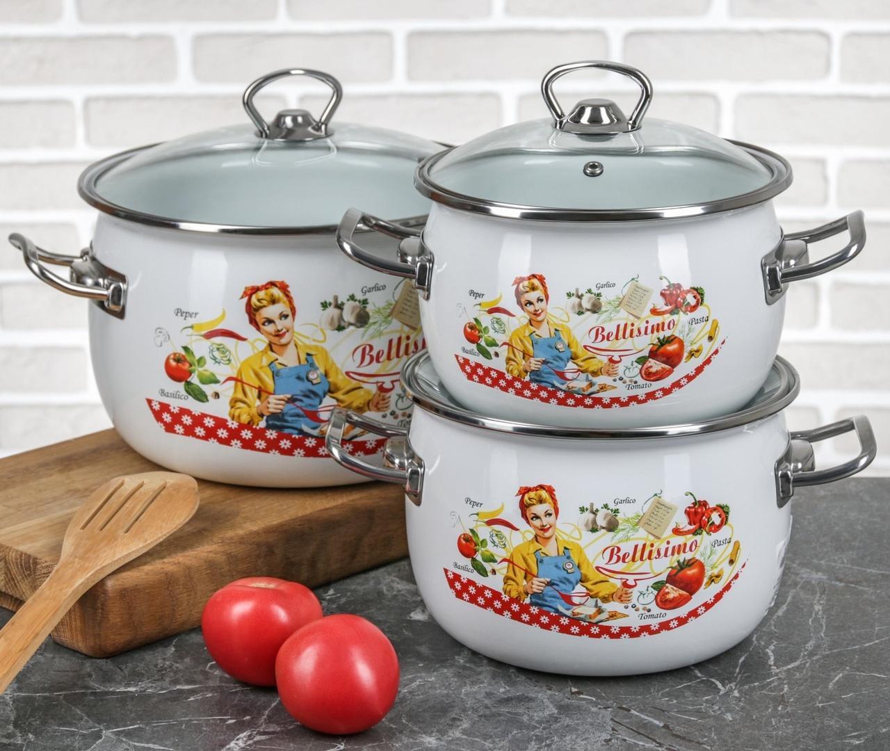 Набор эмалированной посуды IDILIA Белиссимо 3 предмета