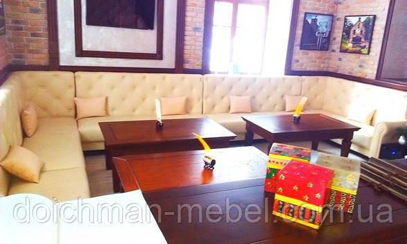Мягкая кожаная мебель для ресторанов, кафе, баров, гостиниц купить в Украине
