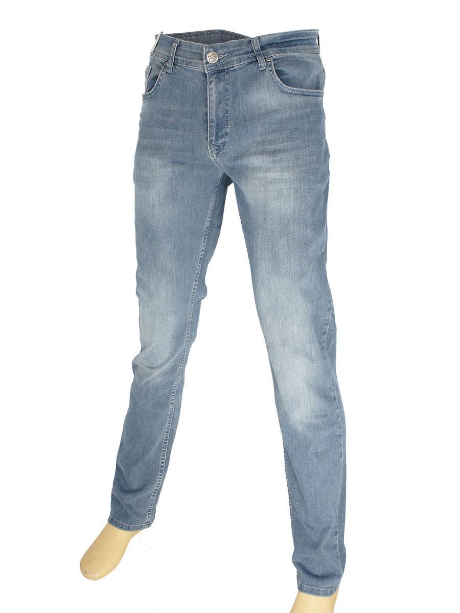 Стильные мужские джинсы  X-Foot 261-2451 C:Gri серого цвета