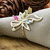 Серебряное кольцо Азалия вставка разноцветные фианиты вес 2.4 г размер 20, фото 2