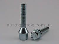 Болт с шестигранной головкой М12х1.25х50 конус, цинк, ключ 17