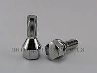 Болт с шестигранной головкой М12х1.25х25 конус, хром, ключ 19