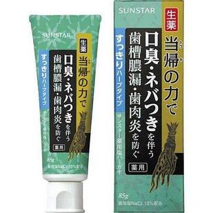 SUNSTAR Shio Hamigaki Солевая лечебно-профилактическая зубная паста освежающая, 85 г