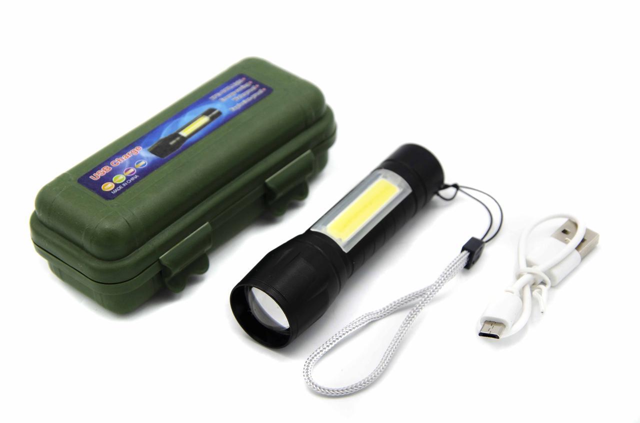 Фонарь Police BL-B511/ Встроенный аккумулятор Li-ion 18650/ ЗУ microUSB/