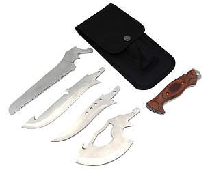 Набор: топор, нож, нож, пила, чехол G-30