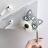 Силиконовый футляр Husky для наушников AirPods + карабин, фото 4