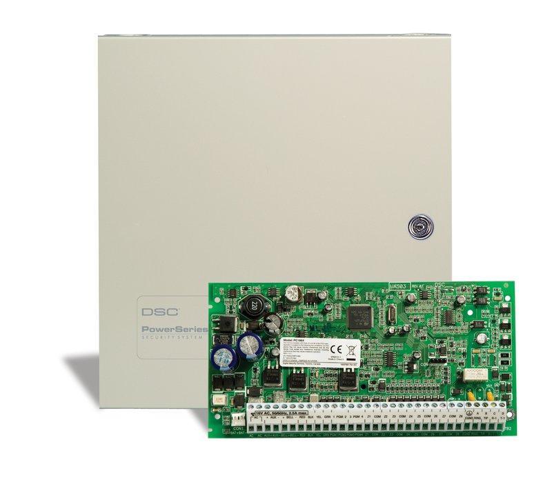 Б/У Прибор приемно-контрольный охранный DSC PC1864h, 8 зон с расширением 64